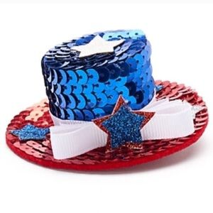 Accessories - Sequined Uncle Sam hat hair clip